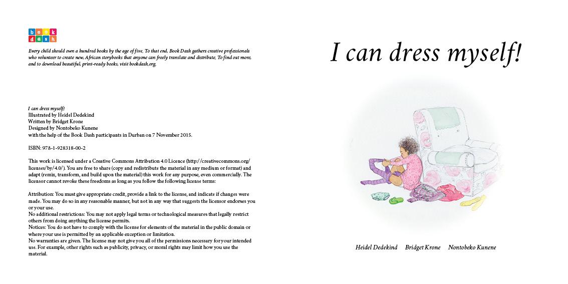 d56aa9606 I Can Dress Myself by Nontobeko Kunene, Heidel Dedekind and Bridget Krone